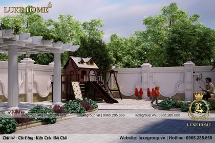 không gian sân vườn biệt thự lâu đài bt 4120