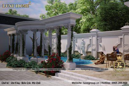 bể bơi biệt thự lâu đài bt 4120