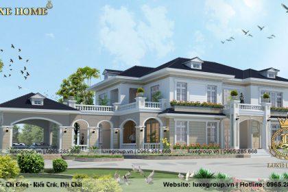 Mẫu biệt thự hiện đại 2 tầng sân vườn Tại Hà Nam – BT 2290