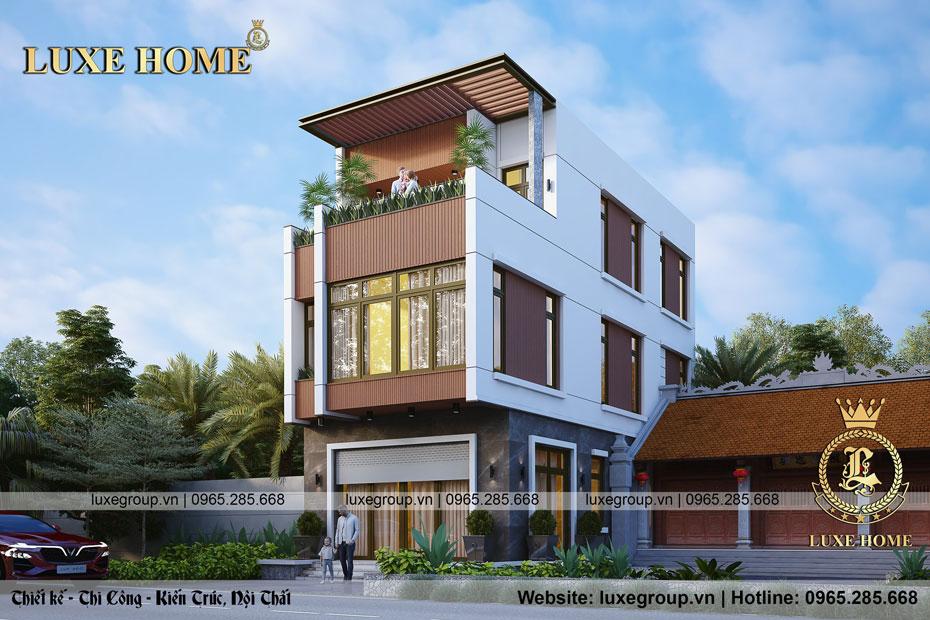 Mẫu biệt thự phố 2 tầng 1 tum tại Hà Nội – BT 2291