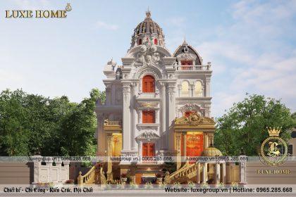 Thiết kế lâu đài 4 tầng diện tích 250m2 cổ điển – LD 4121