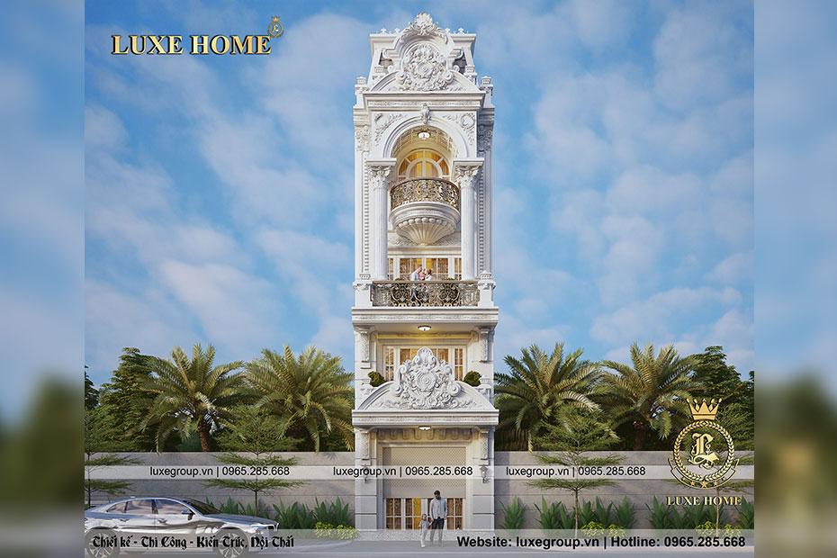 Thiết kế biệt thự phố 4 tầng 1 tum tại Bắc Ninh – BT 4129