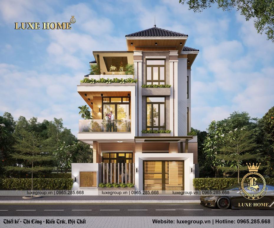 Thiết kế biệt thự 3 tầng 5 phòng ngủ hiện đại – BT 3259