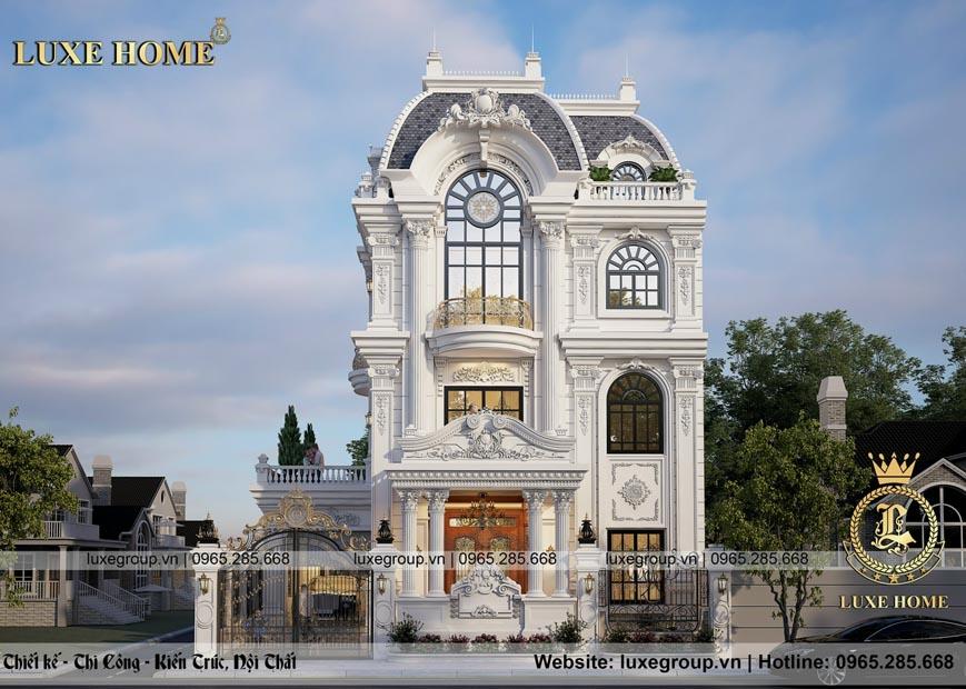 Mẫu biệt thự 3 tầng cổ điển pháp tại Bắc Ninh – BT 3279