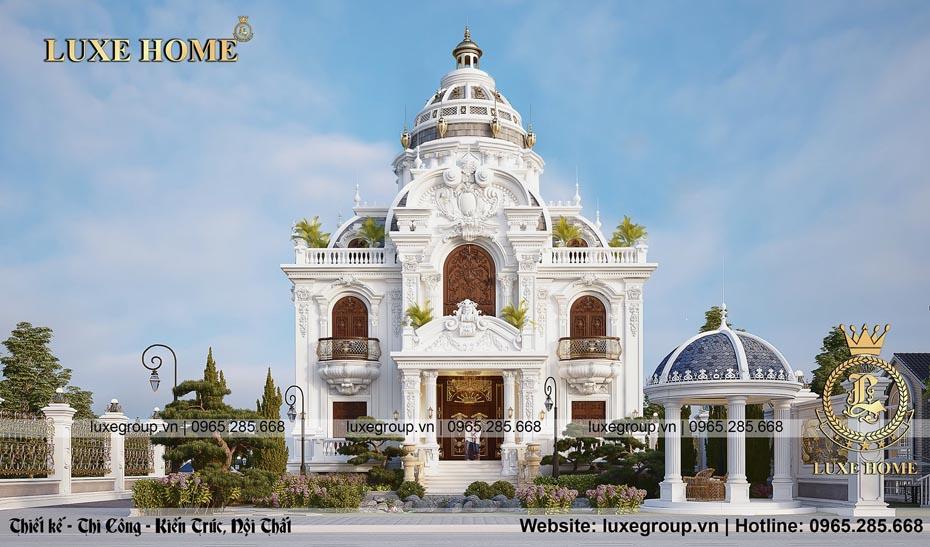 Thiết kế lâu đài 2 tầng có tầng hầm tại Sơn La – BT 2292