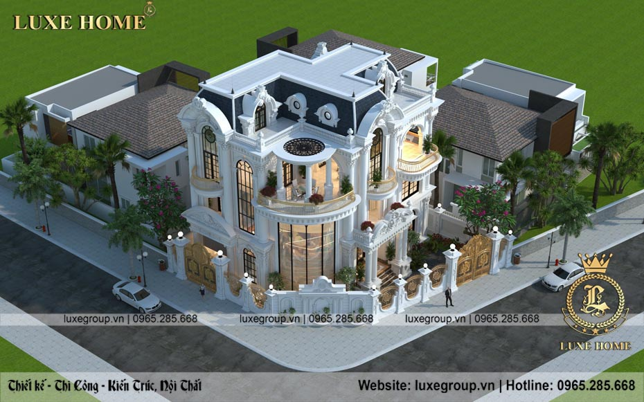Mẫu biệt thự 3 tầng tân cổ điển