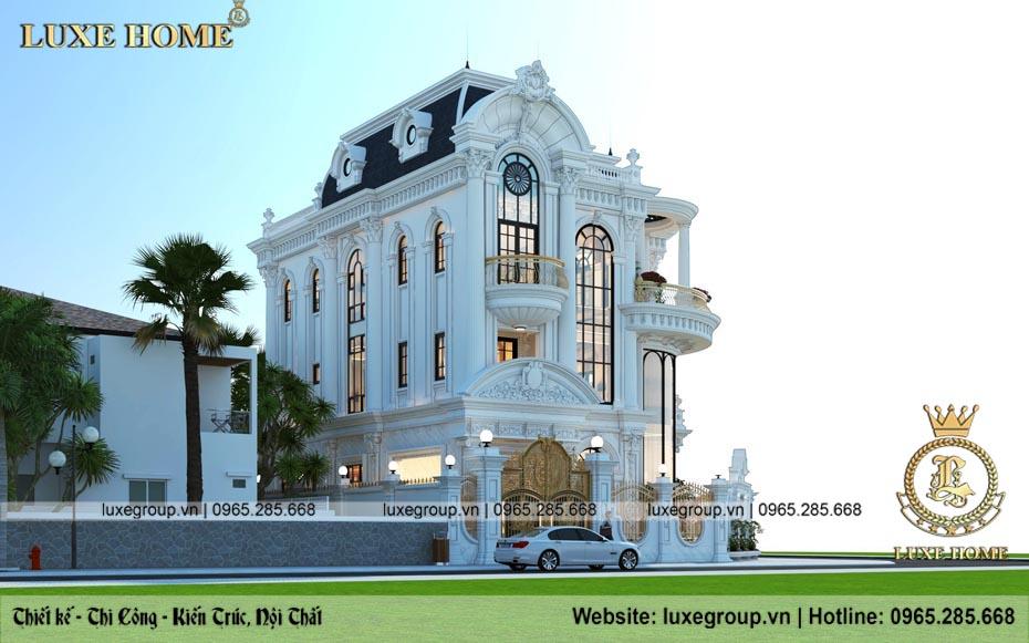mẫu thiết kế biệt thự 3 tầng tân cổ điển