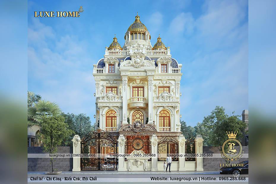 Tìm hiểu thiết kế lâu đài 4 tầng cổ điển sang trong – LD 4133