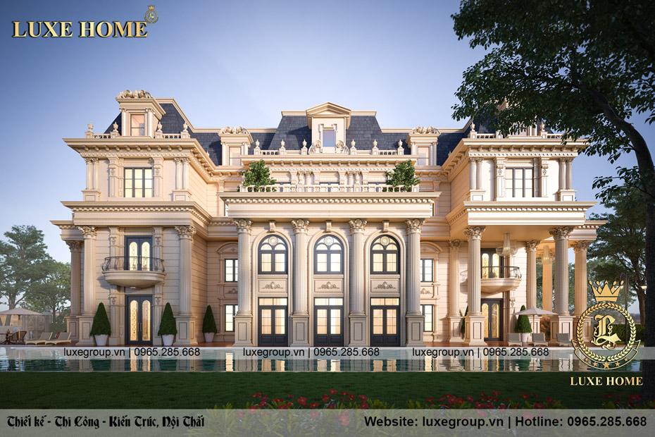 Thiết kế dinh thự lâu đài 3 tầng tân cổ điển đẹp – LD 3240