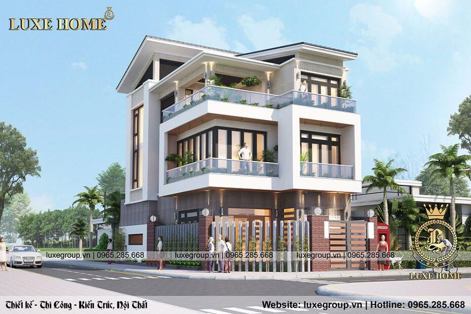 Thiết Kế Biệt Thự Hiện Đại 3 Tầng – BT 3168 Luxe Home