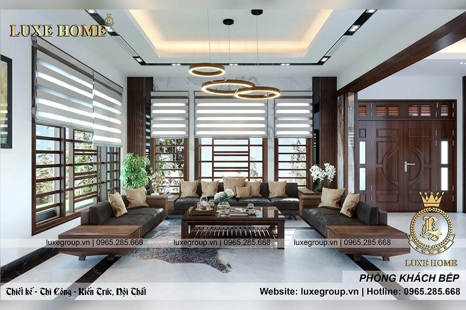 Thiết kế nội thất hiện đại gia đình Anh Tùng Thái Nguyên – NT 3193