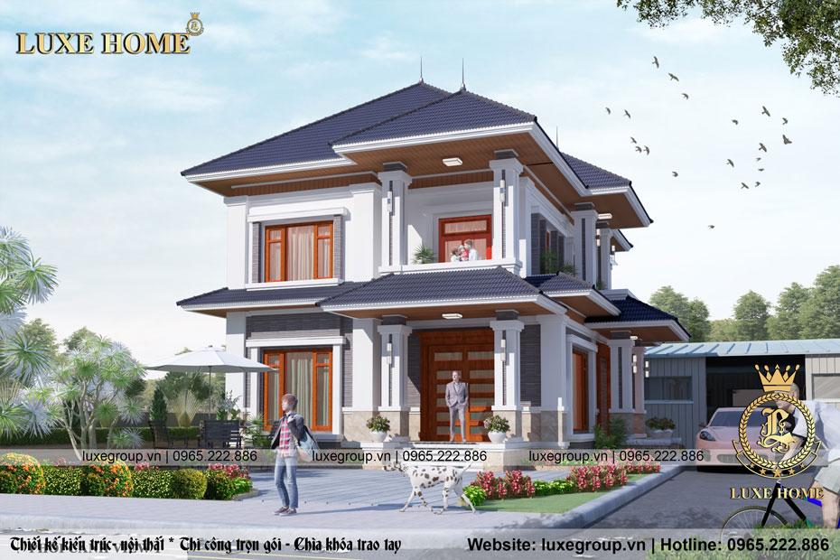 Mẫu biệt thự hiện đại sân vườn 2 tầng tại Nghệ An – BT 2237