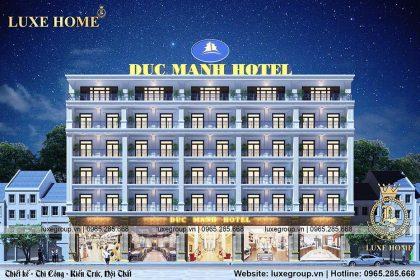 Thiết kế khách sạn 6 tầng đẳng cấp sang  trọng và xa hoa – KS61155