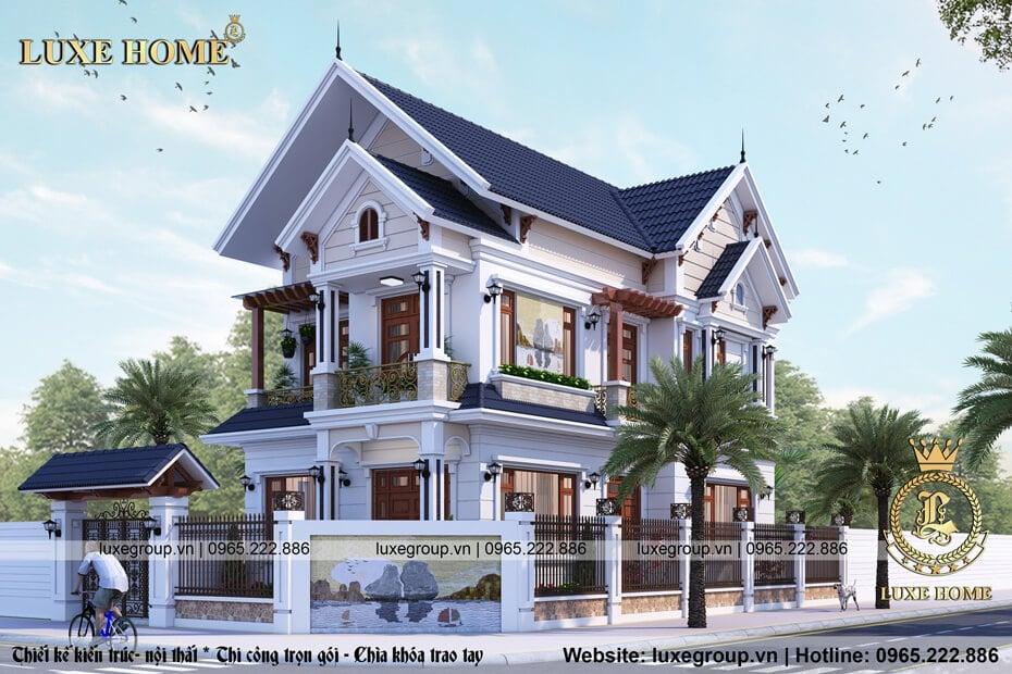 Mẫu Thiết Kế Biệt Thự 2 Tầng Mái Thái Tại Nghệ An – BT 2122