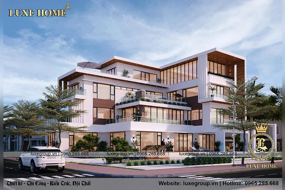 Thiết kế biệt thự 3 tầng mặt phố 2 mặt tiền – BT 3243