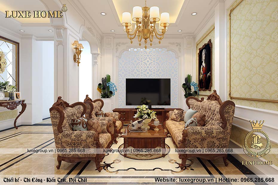 Phong cách thiết kế nội thất tân cổ điển đẹp sang trọng – NT 0150
