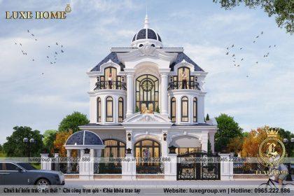 Mẫu Thiết Kế Biệt Thự Tân Cổ Điển Đẹp 3 Tầng – BT 3173 Luxe Home