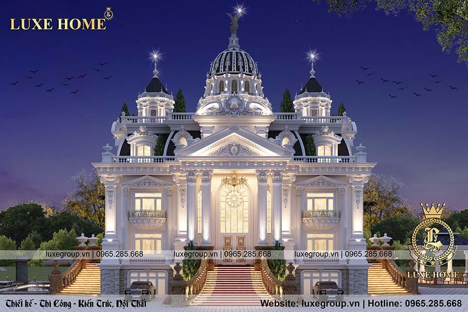 Thiết kế lâu đài cổ điển 4 tầng pháp lộng lẫy – LD 41155