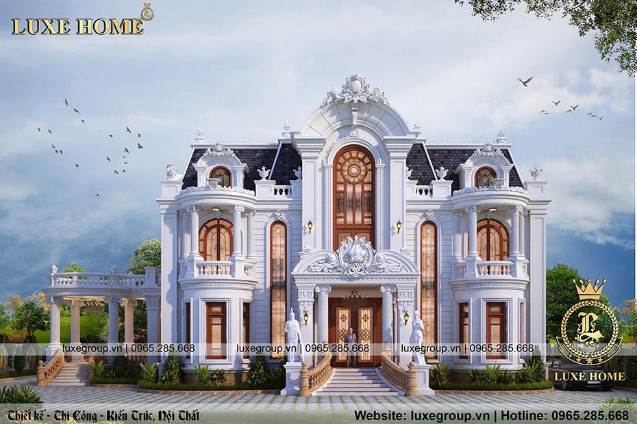 Dinh thự tân cổ điển 2 tầng Nhà Anh Đoàn Sơn La – DT 2230