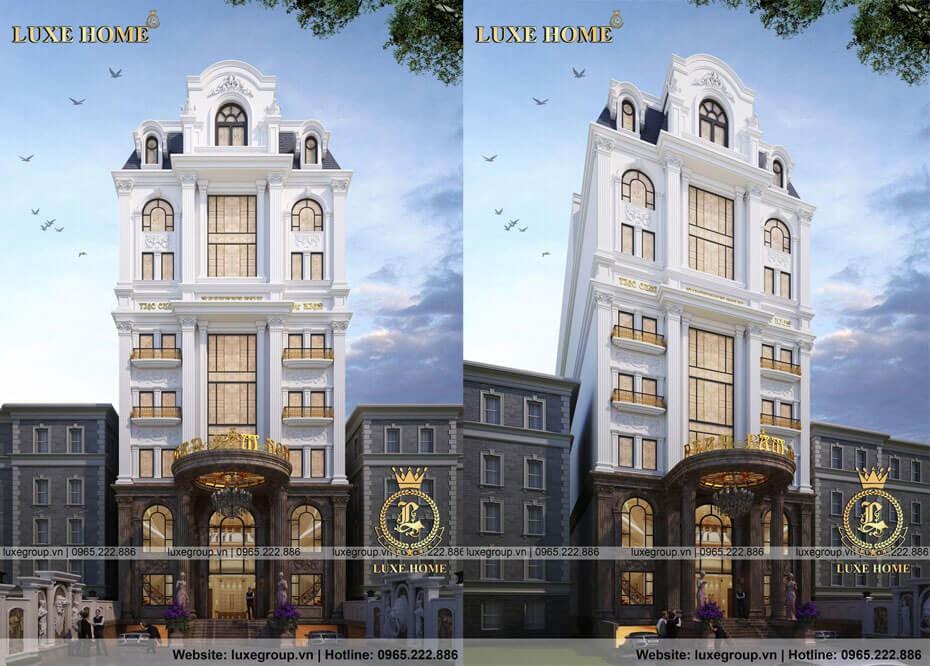 Mẫu Thiết Kế Khách Sạn Tân Cổ Điển 8 Tầng – KS 8111