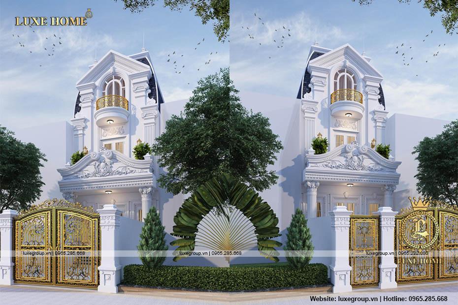 Nhà biệt thự phố 2 tầng cổ điển sang trọng, tinh tế – BT 2213