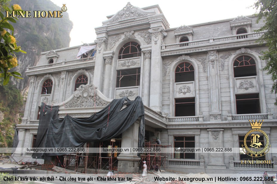 Thi Công Dinh Thự 3 Tầng Tân Cổ Điển Tại Quảng Ninh – TC 3535