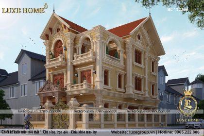 Biệt Thự 3 Tầng Kiến Trúc Pháp Tại Hưng Yên- Mã số: BT 3151