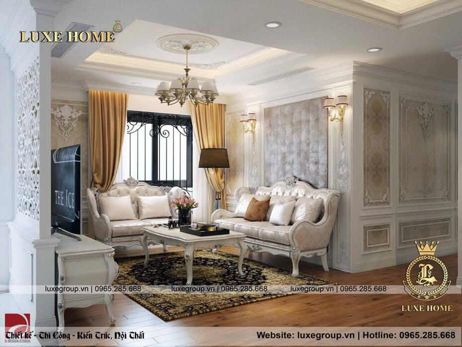 Thi Công Nội Thất Chung Cư Tân Cổ Điển – NT 0131 Luxe Home