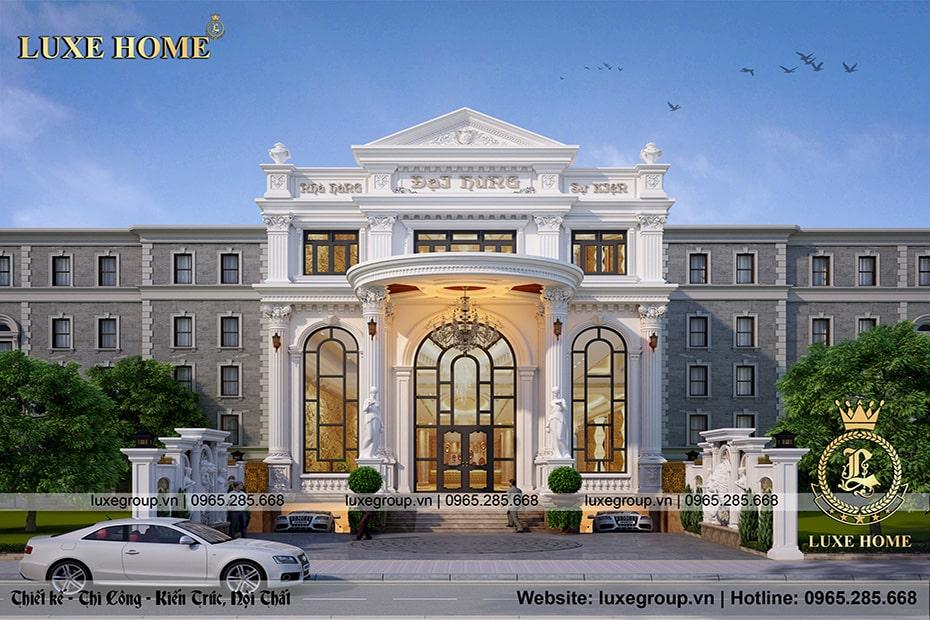 Thiết kế nhà hàng tân cổ điển 2 tầng – NH 2186