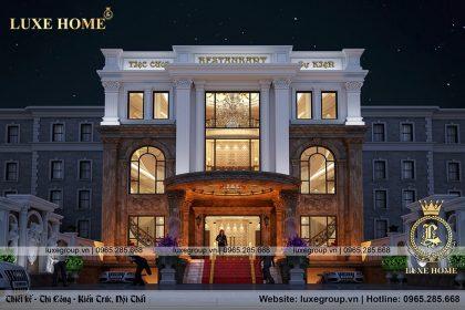 Nhà hàng tân cổ điển 3 tầng đẹp xa hoa – NH 3184