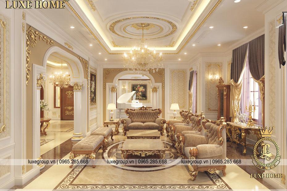Thiết kế nội thất tân cổ điển biệt thự cao cấp – NT 0145