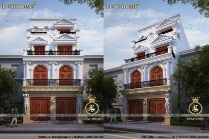 Mẫu Thiết Kế Biệt Thự Tân Cổ Điển 4 Tầng – BT 4113