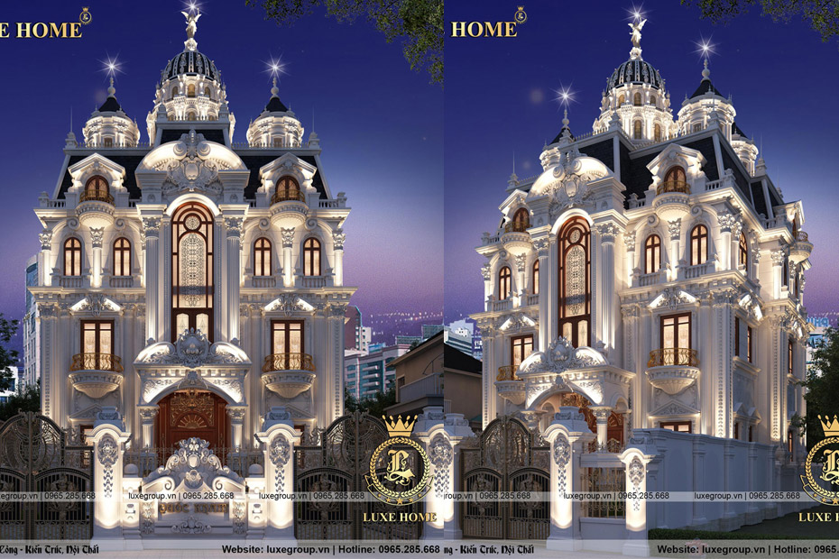 Thiết kế lâu đài dinh thự 5 tầng pháp tại Quảng Ninh – LD 5118