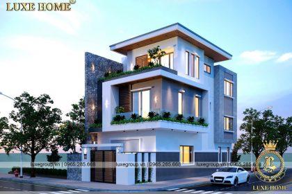 Thiết kế biệt thự nhà phố 3 tầng hiện đại Anh Trọng – BT 3215