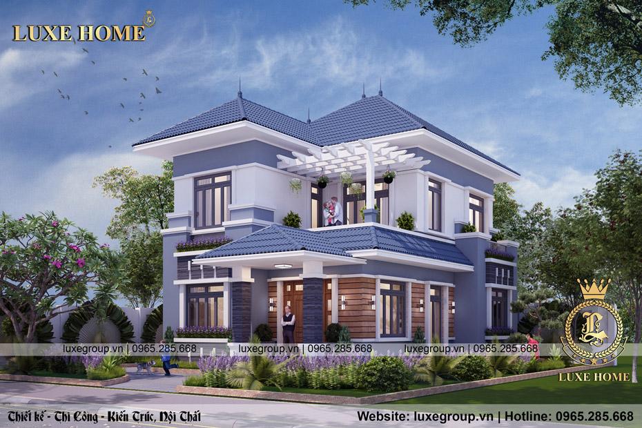 Thiết kế biệt thự 2 tầng hiện đại Anh Tiến Quảng Ninh – BT 2263