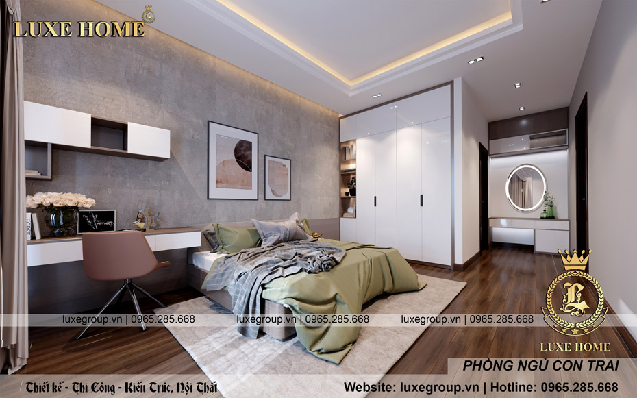 Thiết kế phòng ngủ siêu tiết kiệm với những chi tiết sau