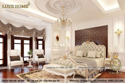 Nội thất tân cổ điển trắng đẳng cấp cho phòng ngủ – NT 11369