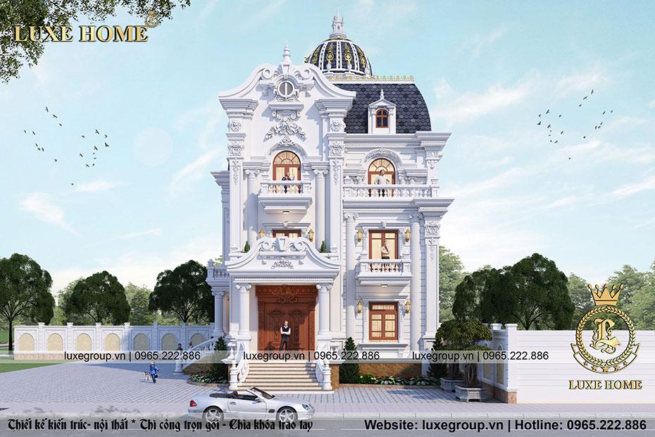 Thiết kế biệt thự 3 tầng cổ điển Tại Quảng Ngãi – BT 3212