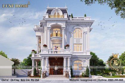 Thiết kế biệt thự sân vườn 3 tầng đẹp – BT 3195
