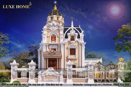 Thiết kế lâu đài 3 tầng cổ điển kiểu pháp – LD 31588