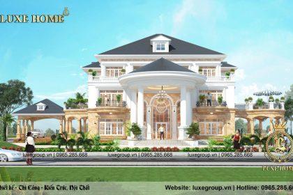 Thiết kế biệt thự 3 tầng tân cổ điển mái thái – BT 3245