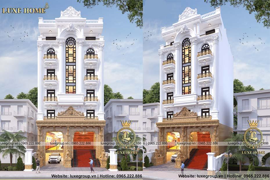 Sang trọng mẫu thiết kế khách sạn 7 tầng đẳng cấp – KS 7111