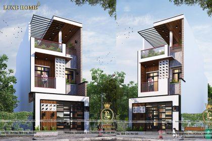 Thiết kế biệt thự hiện đại 2 tầng 1 tum Tại Ninh Bình – BT 2267