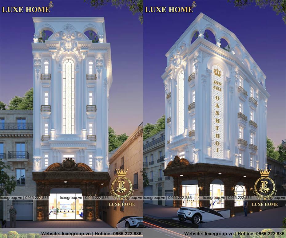 Mẫu nhà 6 tầng, biệt thự 6 tầng mặt phố đẹp – BT 61112