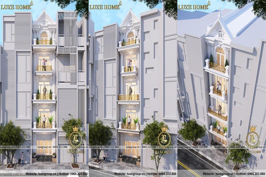 Nhà biệt thự phố 5 tầng tân cổ điển kinh doanh tại  HCM – BT 5111