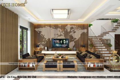Thiết kế nội thất biệt thự hiện đại gỗ sang trọng và ấm áp – NT 1142