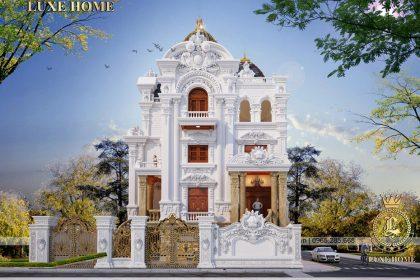 Thiết kế lâu đài dinh thự cổ điển pháp 3 tầng – LD 3230