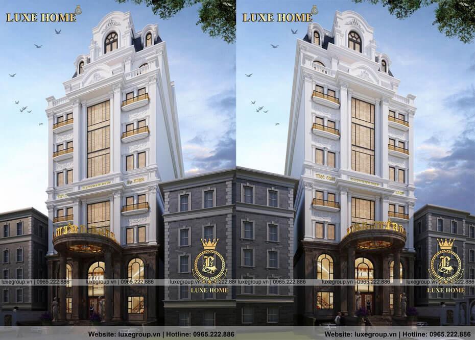 Thiết Kế Khách Sạn Tân Cổ Điển 9 Tầng – KS 9111 Luxe Home