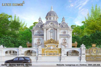 Lâu đài dinh thự 3 tầng cổ điển pháp đẳng cấp – LD 3229