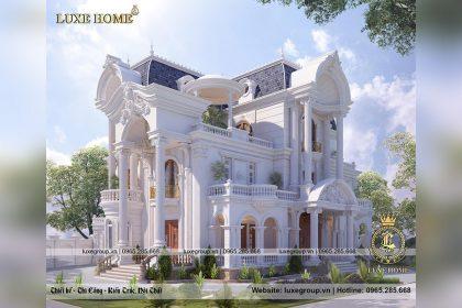 Thiết kế biệt thự dinh thự 3 tầng tân cổ điển đồ sộ – BT 3234